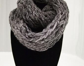 Grey Arm Knit Scarf