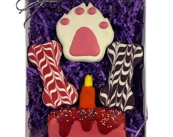 Gourmet Dog Treats - Pink Happy Birthday Gift Box