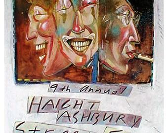 9th Annual Haight Ashbury Street Fair Poster - near perfect