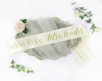 Personalized soon to be Mrs Sash. Custom Bachelorette future mrs Sash. Bride Sash. Bachelorette Sash.Bachelorette Party Accessory.Party sash