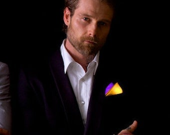 Two Tone Glowing Pocket Square -