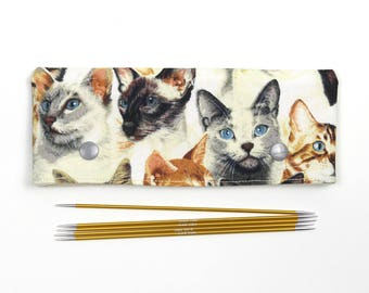 15cm / 6 inch cat DPN cozy, sock needle holder