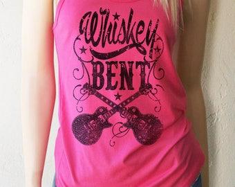 Whiskey Bent  Tank. Whiskey Shirt. Whiskey Girl Tank. Drinking Shirt. Whiskey Shirts. Whiskey Tank. Festival Tank.