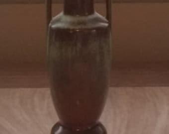 Vintage Frankoma Bud Vase Prairie Colors of Green and Brown