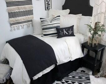 Solid Black Dorm Room Extended Length 34 Part 48