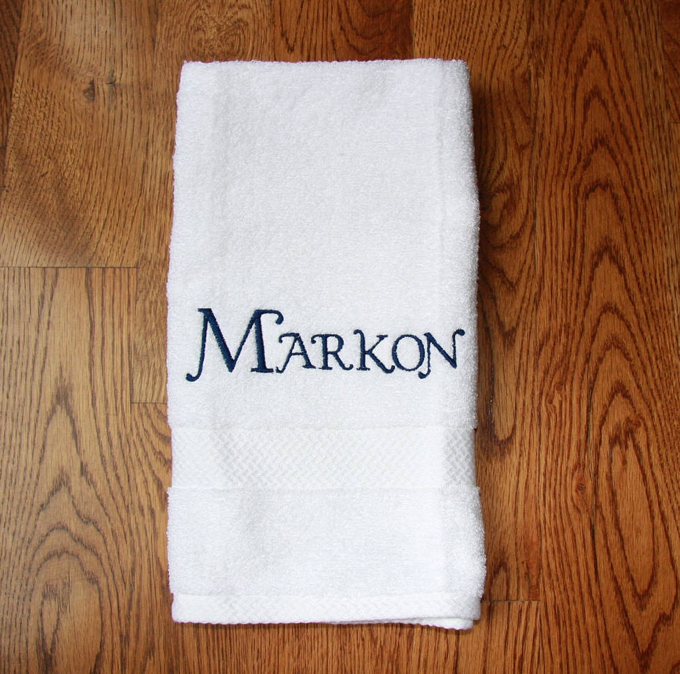 personalized embroidered hand towels kids boy girl custom hand towel