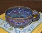 Soup mug, chowder mug, soup bowl, dessert bowl, pasta bowl, blue pottery, baking dish