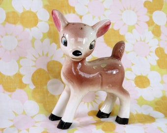Vintage 60s deer figurine a sweet addition to your retro cute collection!