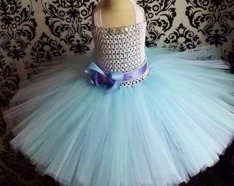 Ice Princess Costume/Snow Queen Dress/Girls Costumes/Baby Girl Dresses/Princess Dress/Birthday Tutu dress/Fancy dress tutus/Ice Queen tutus