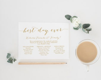 wedding day timeline etsy