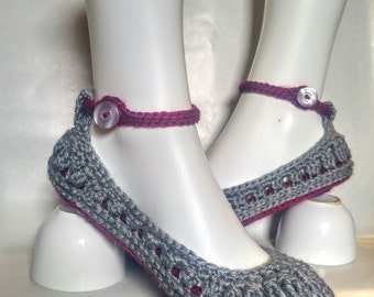 Molly ballerina slippers women girls crochet maryjane