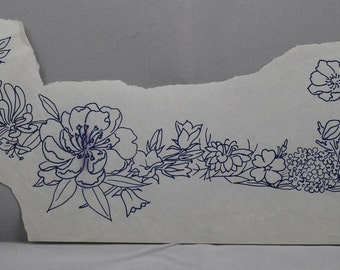 Flower Garland - Vintage Iron-on Transfer