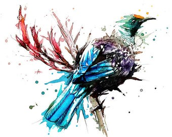 Tui - Limited Edition Print on 330gsm HQ Cotton Textured paper