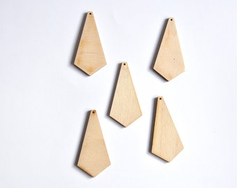Wooden Shape. Unfinished Wooden Ornament. Set of 5 pieces #AUSK003