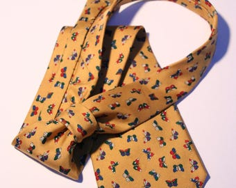 Tie Renato Balestra Mustard background with colorful butterflies
