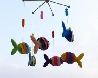 Fish baby mobile*Fish Nursery Mobile*Fish Crib Mobile*Nursery decor