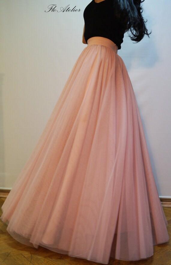 Women tulle skirt tutu skirt princess skirt wedding skirt long for How to make a long tulle skirt for wedding dress