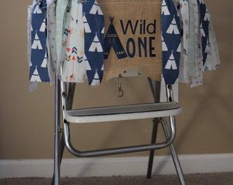 Wild One highchair banner.Teepee first birthday banner.Adventure first birthday banner.First birthday highchair banner.Tribal first birthday