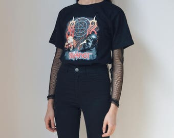 SLIPKNOT TEE -tshirt, metal, emo, 90s, cyber, club kid, aesthetic, grunge, gothic, creepy cute, death, vetements, short sleeve, festival-
