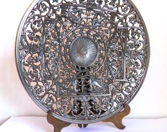 Coalbrookdale Cast Iron Plate Mythological Decoration