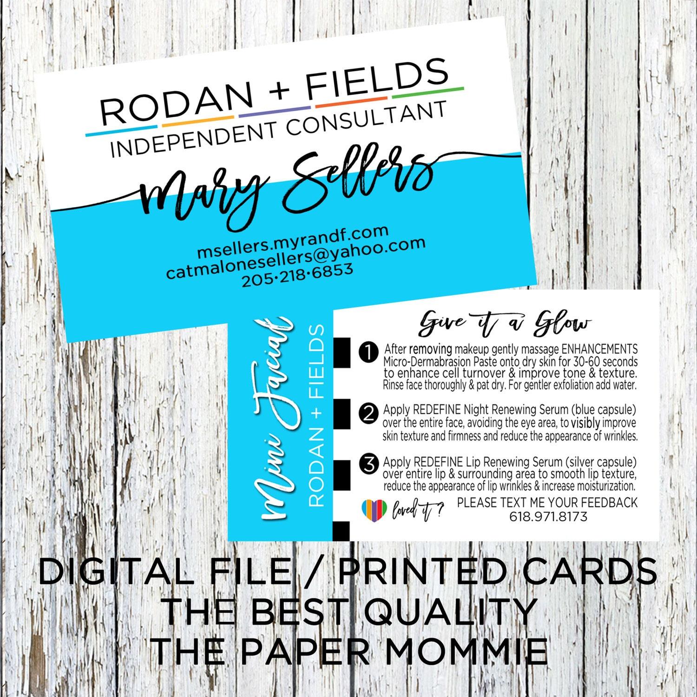 Rodan Fields Business Card Rodan Fields Mini Facial