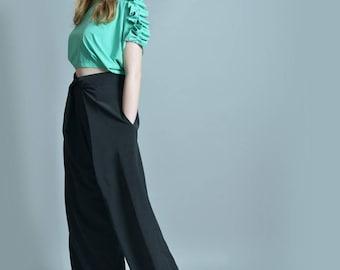 High Waist Pants, Black Trousers, Suit Pants, Wide Leg Pants, Straight Pants, Plus Size Maxi Pants, Women Trousers, Office Pants
