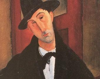 Amedeo Modigliani-Modigliani-Art-Portrait-Vintage-Postcard-Italy-Home-Wall decor