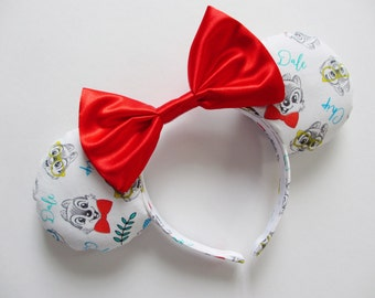 Chip and Dale Print Mouse Ears Headband