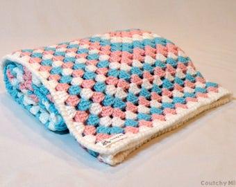Granny baby blanket baby crochet blanket baby blankie baby gift baby shower gift baby blanket boy baby blanket girl baby boy baby girl