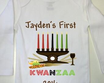 Baby First Kwanzaa  Outfit, Kwanzaa onesie, Baby First Kwanzaa Bodysuit, Baby's First Kwanzaa Onesie, Kwanzaa outfit, First Kwanzaa