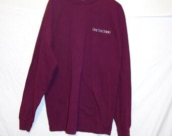 1997 ONE TRUE THING movie burgundy long sleeve t-shirt size extra large