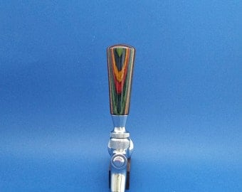 Beer tap handle, Handcrafted, Colorgrain wood, laminated wood