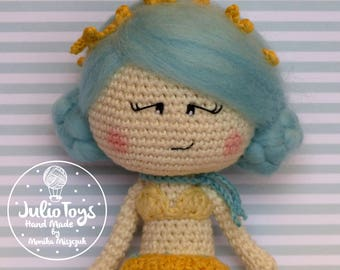 Blue Mermaid - crochet doll