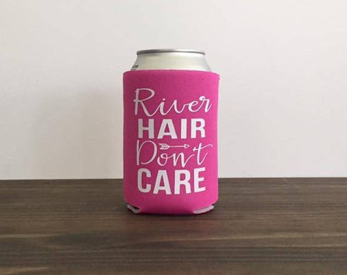River Hair Don't Care Can Cooler Drink Holder Summer 17 Colors