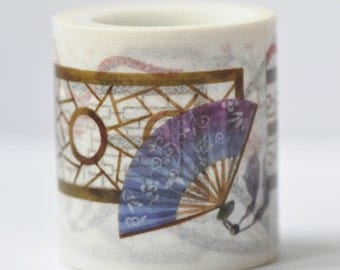 Asian Culture Vintage Window Washi Tape/  Wide Japanese Masking Tape 40mm wide x 5m long (approx. 1.6 inch wide x 5.5 yards long) No. 12059