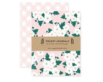 Pink Blossom - Pocket Journal Set of 2