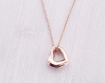 Rose Gold Open Heart Memorial Pendant - Cremation Jewelry - Engraved Jewelry - Urn Necklace - Pet Memorial - Ash Necklace