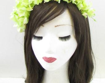 Light Pastel Green Wisteria Flower Headband Headpiece Headpiece Fascinator 963