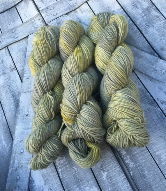 Hand Dyed Yarn, Fairy Circle, Fingering Weight,2 ply,75/20/5 Superwash Merino/Nylon/Stellina mix,100 grams,indie dyed yarn,knit & crochet