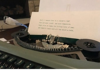 Custom Typewritten Letter