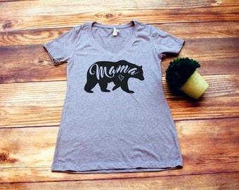 mom life shirt, mama bear shirt, mama bear t-shirt,mama bear vneck, momma bear shirt, momma bear gift, baby bear shirts, mothers day
