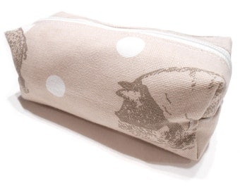Pig Cosmetic Bag, Boxy Pencil Case, Make-Up Bag, Coin Purse, Pouch