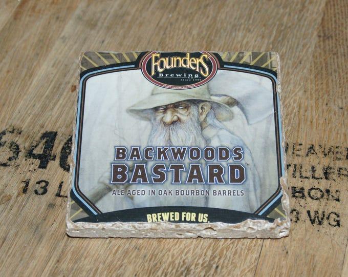 UPcycled Coaster - Founders Brewing Co. - Backwoods Bastard