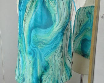 Vintage Turquoise Summer Top