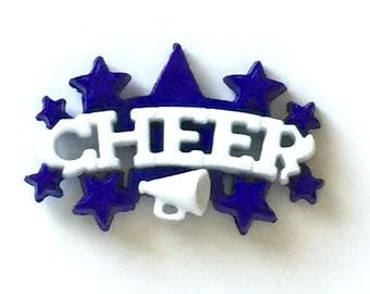 Cheer Pin, Cheer Mom Pin, Cheer Brooch, Cheer Lapel Pin, Cheer Tie Tack, Cheerleader, Squad