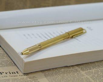 brass pen, solid barss pen, bass edc, metal pen, metal bass pen, brass ball pen, brass ball-pen, metal ball pen