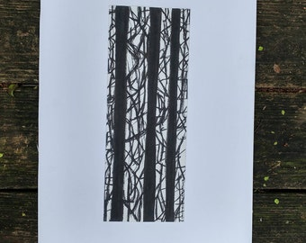 Abstract Ink TreeScape