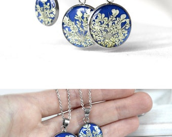 Bridesmaid gift idea for her Blue pendant gift Wedding gift idea for bridesmaid pendant Holiday jewelry for wife blue gift idea for women