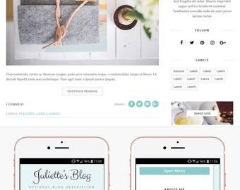 Blogger Template Responsive, Blogger Theme, Premade Blogger Templates, Blogger Template Minimal, Blogger Blog, Blogspot - Juliette