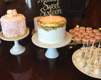 Sweet Sixteen Cake topper, Custom birthday cake topper, Sweet 16, 16th birthday cake topper, custom toppers, 16 cake topper, Sixteen topper